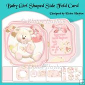 Baby Girl Shaped Side Fold Card