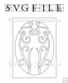 Unique Damask 110 - 1 SVG Cutting File