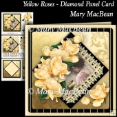 Yellow Roses - Diamond Panel Card