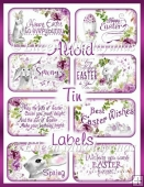 Cottage Chic Best Easter Wishes Altoid Tin Labels Set