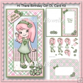 Hi There Birthday Girl DL Card Kit
