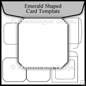 Emerald Shaped Template Commerical Use OK