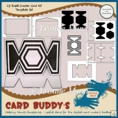 C5 Easel Cracker Card Kit Template Set