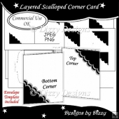 Layered Scalloped Corner Card Template