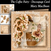 The Coffee Fairy - Decoupage Card