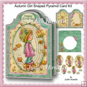 Autumn Girl Shaped Pyramid Card Kit