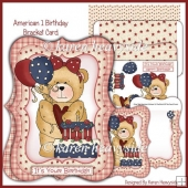 American 1 Birthday Bracket Card