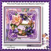 Pink And Purple Summer Blooms Card Front
