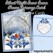 Silent Night Snow Scene Frame Pyramge Card