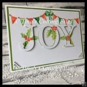 3d Eclipse Card - Christmas card Joy