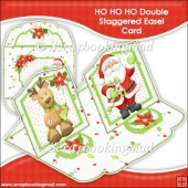 HO HO HO Double Staggered Easel Card