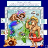 Lifeguard & Mermaid Over The Edge Card Kit + Insert Envelope Tag