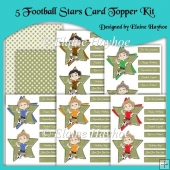 5 Football Stars Card Topper Kit