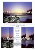 BSA Goldstar Motorbike Night Rider Biker Dream Fantasy