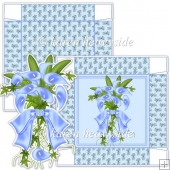 Blue Lilly Bouquet 5x5 Square Box