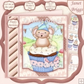 TOP OF THE CUPCAKE WORLD 8x8 Decoupage & Insert Kit