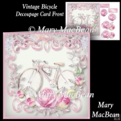 Vintage Bicycle Decoupage Card Front