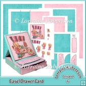 EASEL DRAWER CARD ~ DECOUPAGE