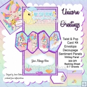 Unicorn 3D Twist and Pop Card Kit