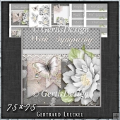 Grey Butterfly Flower Polkadots Card Topper Kit 1426