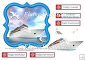 Cruise Ship Card Topper With Decoupage