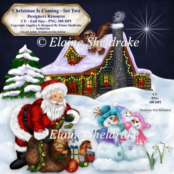 Christmas Is Coming Set Two Designers Resource CU PNG 300 DPI