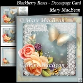 Blackberry Roses - Decoupage Card