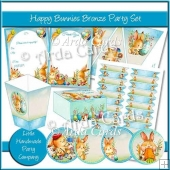 Happy Bunnies Bronze Party Set