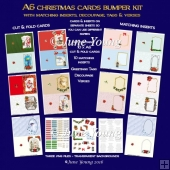 A6 Christmas Cards Bumper Kit