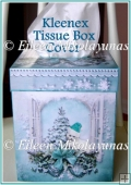 Cottage Chic Christmas Kitty Kleenex Brand Tissue Box Cover