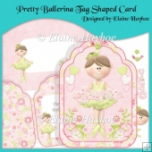 Pretty Ballerina Tag Shaped Card