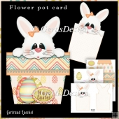 Bunny Pot Stand Alone Card Kit