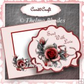 Red rose shaped plate and stand set