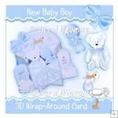 Baby Boy 3D Wrap Around Card