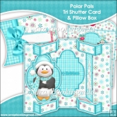 Polar Pals Tri Shutter Card With Matching Pillow Box