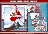 Skiing Santa 4 Sheet Mini Kit