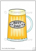 Best Dad Glass Coloured
