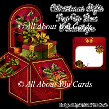 Christmas Gifts Pop Up Box Card