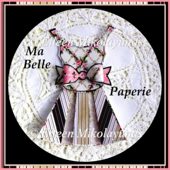 Ma Belle Paperie French Inspired Dress and Bow Embellishment Set