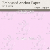 Embossed Anchor Backing Paper in Pink