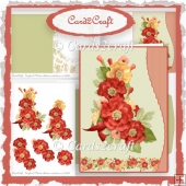 Wavy edge poppy card set