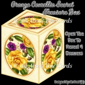 Orange Camellia Secret Treasure Box