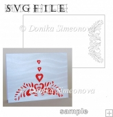 Border with Hearts 1 Card - SVG Cutting File