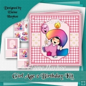Girl Age 2 Birthday Kit