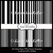 CU4CU Stripe Paper Template Instant Download A4 300dpi Printable