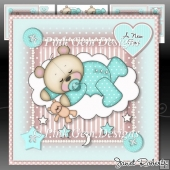 Baby Boy Sleeping Teddy Mini Kit