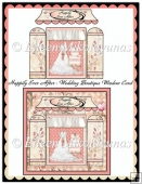 Happily Ever After WEDDING Boutique Window Card
