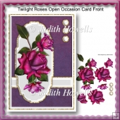 Twilight Roses Open Occasion Card Front