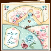Bouquet & Bird House Double Pocket Card