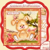 Chilled Bunny 8x8 Decoupage Kit for All Occasions